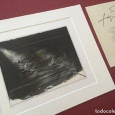 Arte: ANTONI TAPIES + CERTIFICADO DE AUTENTICIDAD. Lote 194218142