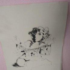 Arte: BONITA LITOGRAFÍA FIRMADA POR RUIZ MORANTE . Lote 194230626