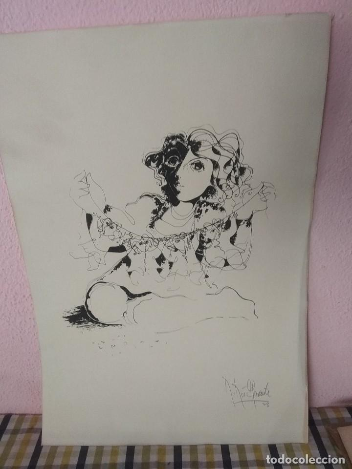 Arte: Bonita litografía firmada por Ruiz Morante - Foto 2 - 194230626