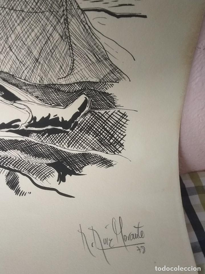Arte: Litografía tinta de Ruiz Morante - Foto 2 - 194230762