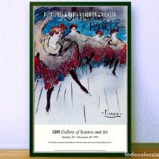 Arte: BONITO CARTEL -PABLO PICASSO-JARDIN DE PARIS, POSTER DEL LENOX HILL HOSPITAL - 1991- 93.98X58.42 CM. Lote 194254963