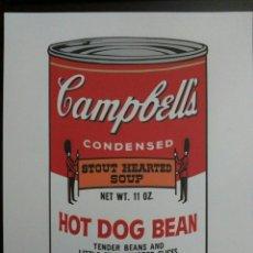 Arte: ANDY WARHOL. CAMPBELLS HOT DOG BEAN. LITOGRAFÍA NUMERADA 494/3000. Lote 194260133