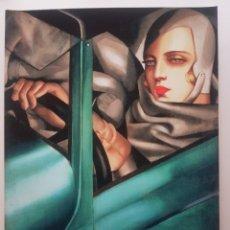 Arte: TAMARA LEMPICKA: AUTOPORTRAIT. LITOGRAFIA ORIGINAL LEGAL CON MATRICULA.. Lote 194502285