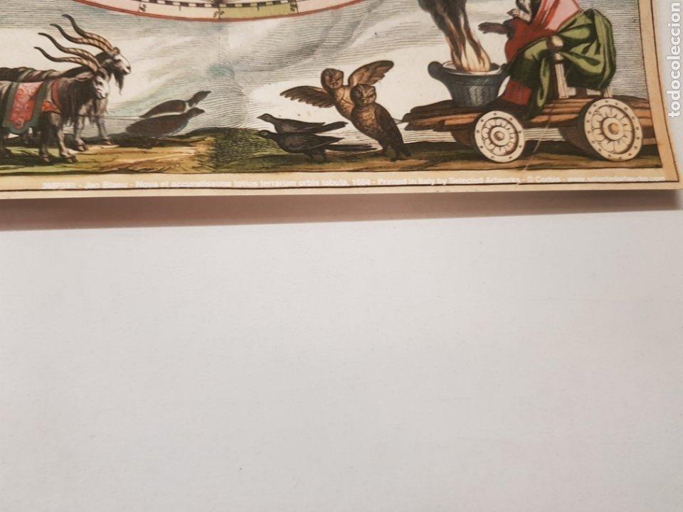 Arte: JAN BLAEU : MAPA MUNDI 1664. LITOGRAFIA LEGAL CON MATRICULA LEGAL DEL EDITOR - Foto 2 - 194529910