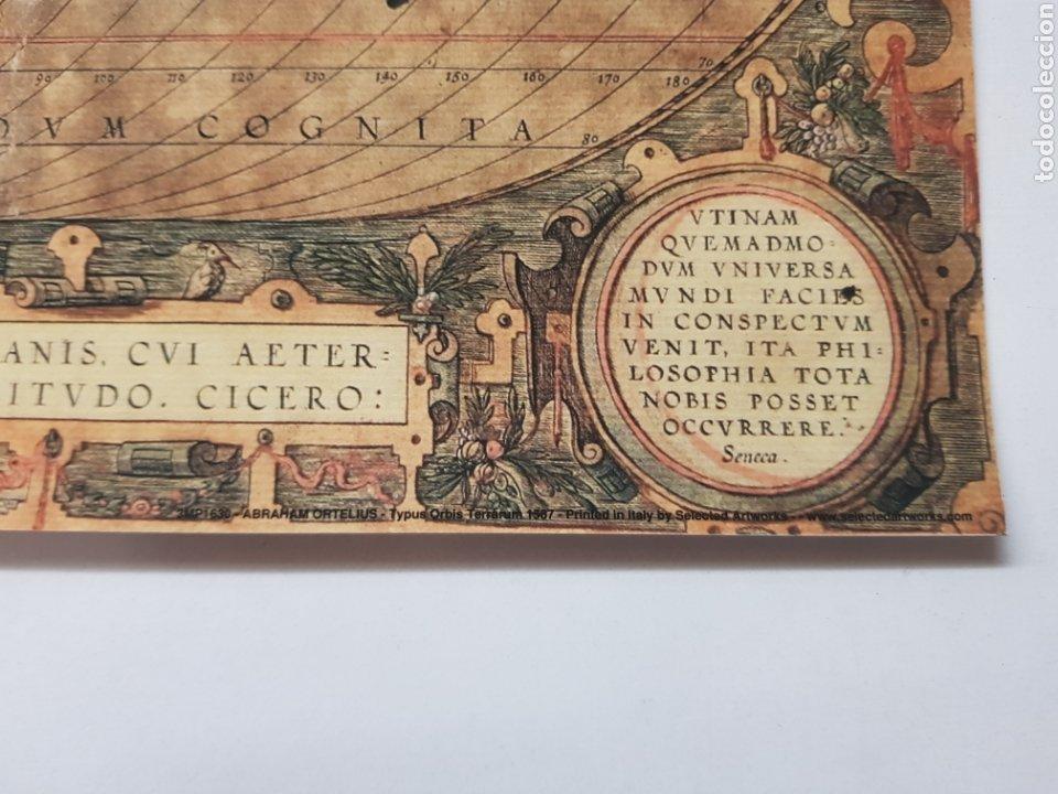 Arte: ABRAHAM ORTELIUS : MAPA MUNDI 1567. LITOGRAFIA ORIGINAL CON MATRICULA LEGAL DEL EDITOR - Foto 2 - 194531097