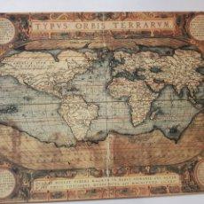Arte: ABRAHAM ORTELIUS : MAPA MUNDI 1567. LITOGRAFIA ORIGINAL CON MATRICULA LEGAL DEL EDITOR. Lote 194531097