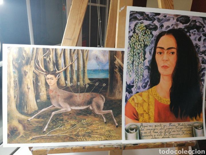 FRIDA KALHO, CIERVO. PAREJA LAMINAS TIPO LITOGRAFIA ARTE LATINO MEXICO (Arte - Litografías)