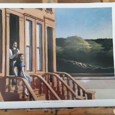 Arte: EDWARD HOPPER: SUNLIGHT ON BROWNTONES, 1956. LITOGRAFÍA ORIGINAL CON MATRÍCULA LEGAL DEL EDITOR.. Lote 194591817
