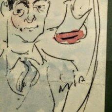 Arte: CARTEL IMPRESO PARA EL XV ANIVERSARIO IN MEMORIA DE ENRIC C RICART. DIBUJO DE JOAQUIM MIR. Lote 194592295