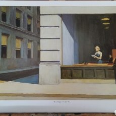 Arte: EDWARD HOPPER: NEW YORK OFFICE,1962. LITOGRAFÍA ORIGINAL CON MATRÍCULA LEGAL DE EDICIÓN. Lote 194594337