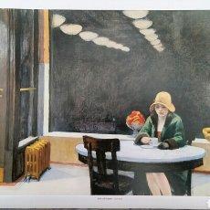 Arte: EDWARD HOPPER: AUTOMAT, 1927. LITOGRAFÍA ORIGINAL CON MATRÍCULA LEGAL DEL EDITOR.. Lote 194594731