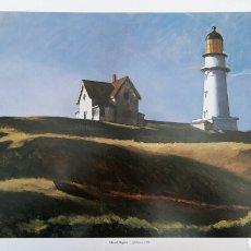 Arte: EDWARD HOPPER: LIGHTHOUSE HILLARY, 1927. LITOGRAFÍA ORIGINAL CON MATRÍCULA LEGAL DE EDICIÓN.. Lote 194595616