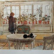 Arte: CARL LARSSON : THE FLOWER WINDOW. LITOGRAFÍA ORIGINAL CON MATRÍCULA LEGAL DE EDICION. Lote 194616727