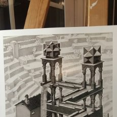 Arte: M. C. ESCHER: WATERFALL,1961. LITOGRAFÍA ORIGINAL CON MATRÍCULA LEGAL DE EDICIÓN. Lote 194629678