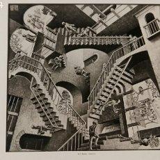 Arte: M. C. ESCHER: RELATIVIZA, 1953. LITOGRAFÍA ORIGINAL CON MATRÍCULA LEGAL DE EDICION. Lote 194632913