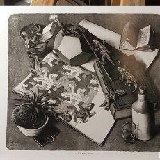 Arte: M. C. ESCHER: REPTILES, 1943 . LOS LAGARTOS - LITOGRAFIA ORIGINAL CON MATRÍCULA LEGAL DE EDICIÓN. Lote 194633912