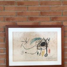Arte: LITOGRAFÍA DE JOAN MIRO .NO ES -DALI-PICASSO-WARHOL-QUERALT. Lote 194725077
