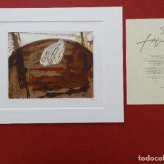 Arte: ANTONI TAPIES + CERTIFICADO DE AUTENTICIDAD. Lote 194735113