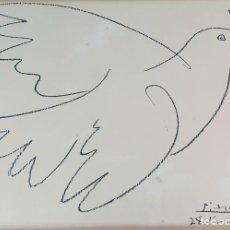 Arte: LA PALOMA DE LA PAZ. LITOGRAFÍA IMPRESA SOBRE PAPEL. PABLO PICASSO. 1961. . Lote 194778572