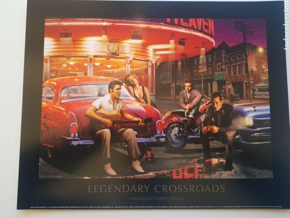 CHRIS CONSANI: ELVIS, BOGART, MARILYN, DEAN APARCAMIENTO. LITOGRAFIA ORIGINAL CON MATRICULA LEGAL (Arte - Litografías)