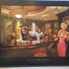 Arte: CHRIS CONSANI: ELVIS, BOGART, MARILYN, DEAN EN BARRA BAR. LITOGRAFIA ORIGINAL CON MATRICULA LEGAL. Lote 194871666