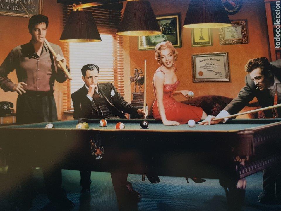 Arte: CHRIS CONSANI : ELVIS, BOGART, MARILYN, DEAN EN BILLAR- 1. LITOGRAFIA ORIGINAL CON MATRICULA LEGAL - Foto 2 - 194872630