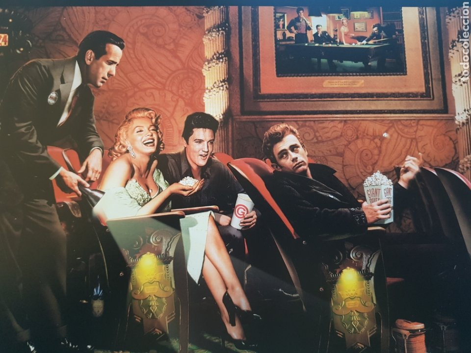 Arte: CHRIS CONSANI: ELVIS, BOGART, MARILYN, DEAN EN CINE. LITOGRAFIA ORIGINAL CON MATRICULA LEGAL - Foto 2 - 194873025