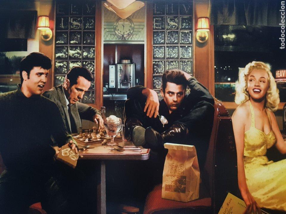 Arte: CHRIS CONSANI: ELVIS, BOGART, MARILYN, DEAN EN BAR. LITOGRAFIA ORIGINAL CON MATRICULA LEGAL - Foto 2 - 194867722