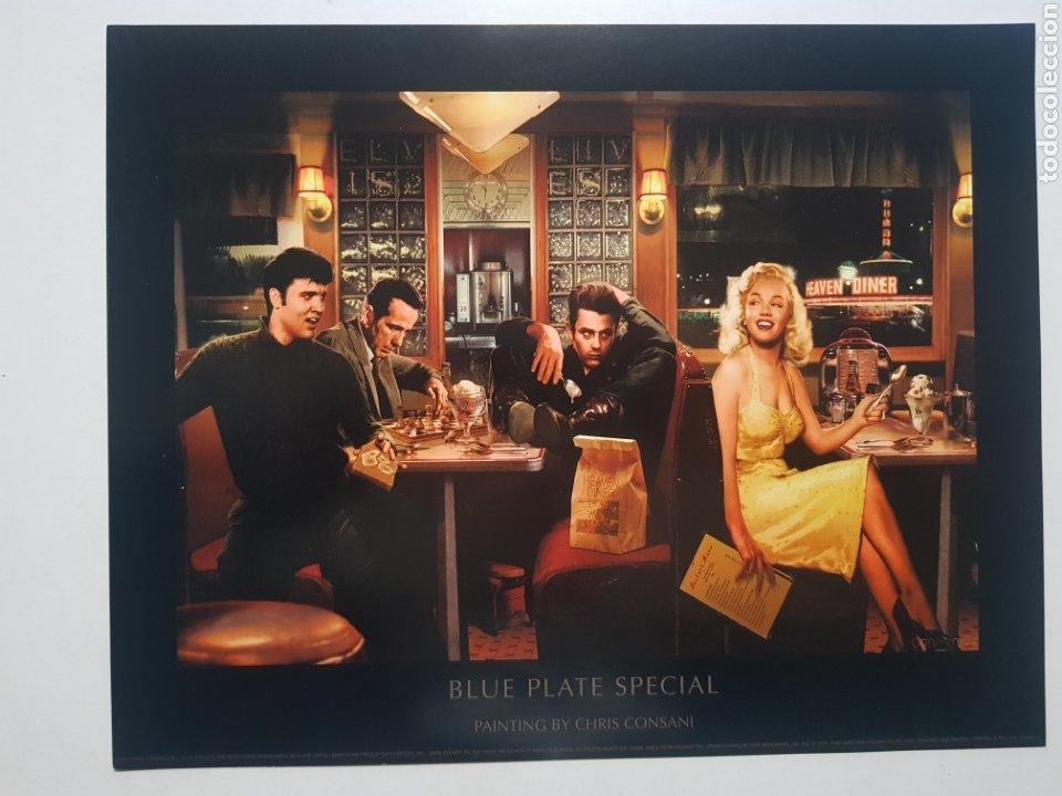 CHRIS CONSANI: ELVIS, BOGART, MARILYN, DEAN EN BAR. LITOGRAFIA ORIGINAL CON MATRICULA LEGAL (Arte - Litografías)