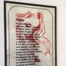 Arte: JOSÉ PEDRONI (ARGENTINA 1899-1969) LITOGRAFÍA CON POEMA DEL POETA ARGENTINO. Lote 194910486