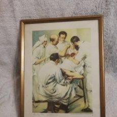 Arte: CUADRO. CEREGUMIL. COLECCION ESTAMPAS MEDICAS. LA OPERACION. JUAN LINCY ADAMS. Lote 194912081