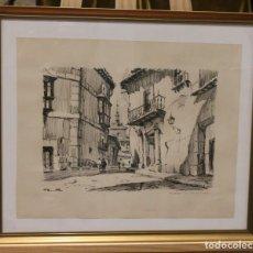 Arte: LITOGRAFÍA, TRAVESÍA DE SANTA ISABEL, 53 X 45 CM. Lote 194990130