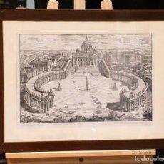 Arte: ANTIGUA LITOGRAFÍA, VATICANO, AÑOS 40, 67 X 51 CM, ENMARCADA EN MADERA. Lote 194990910