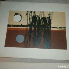 Arte: CESAR OLMOS LITOGRAFÍA ESTAMPADA 4 TINTAS - CARTULINA 24 X17,5 CM. MANCHA 18X12 CM. SIN FIRMA. Lote 195009292