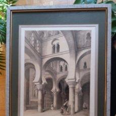 Arte: LITOGRAFÍA SIGLO XIX PEREZ VILLAAMIL,CAPILLA DEL CRISTO DE LA LUZ EN TOLEDO. Lote 195029318