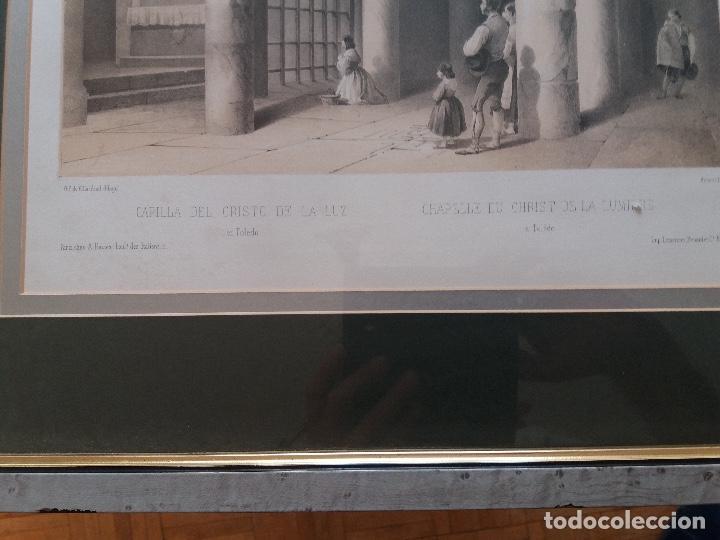 Arte: LITOGRAFÍA SIGLO XIX PEREZ VILLAAMIL,CAPILLA DEL CRISTO DE LA LUZ EN TOLEDO - Foto 2 - 195029318