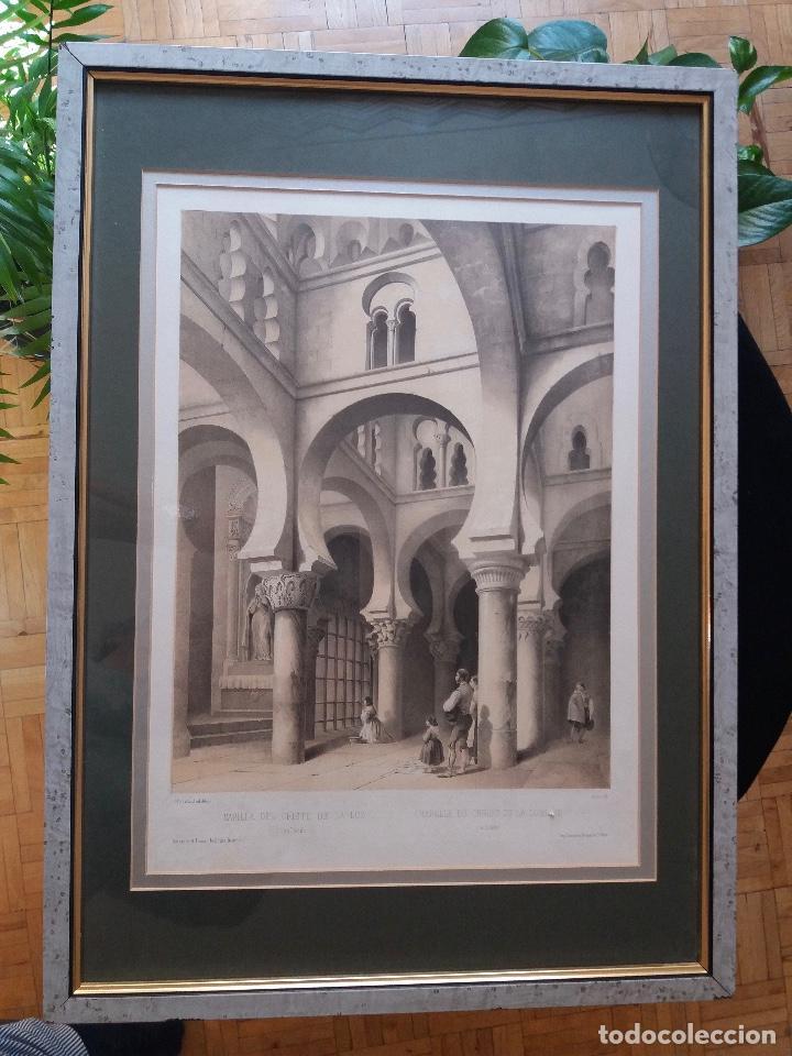 Arte: LITOGRAFÍA SIGLO XIX PEREZ VILLAAMIL,CAPILLA DEL CRISTO DE LA LUZ EN TOLEDO - Foto 3 - 195029318
