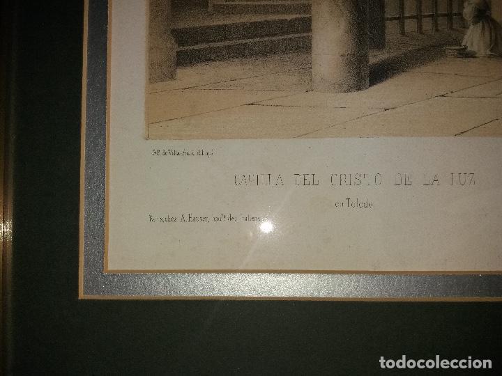 Arte: LITOGRAFÍA SIGLO XIX PEREZ VILLAAMIL,CAPILLA DEL CRISTO DE LA LUZ EN TOLEDO - Foto 6 - 195029318