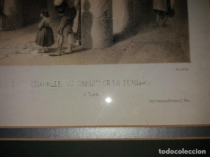 Arte: LITOGRAFÍA SIGLO XIX PEREZ VILLAAMIL,CAPILLA DEL CRISTO DE LA LUZ EN TOLEDO - Foto 7 - 195029318