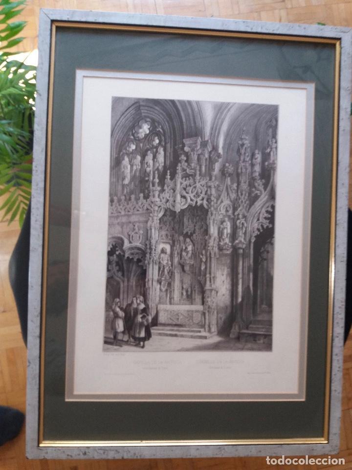Arte: LITOGRAFÍA SIGLO XIX PEREZ VILLAAMIL,CAPILLA DE LA ANTIGUA EN LA CATEDRAL DE TOLEDO - Foto 6 - 195030077