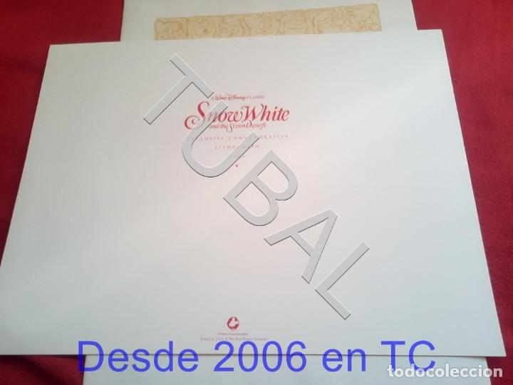 Arte: TUBAL BLANCANIEVES LITOGRAFIA SNOW WHITE Lithography WALT DISNEY 1994 ENVÍO 4,99 € PARA 2020 - Foto 3 - 195031731