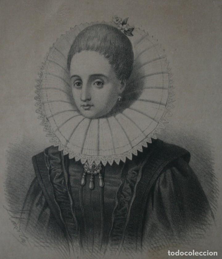 ANTIGUA LITOGRAFIA J. DONON MADRID: VERONICA GAMBARA – ELIZALDE Y COMPAÑÍA EDITORES, FIRMADA LLANTA (Arte - Litografías)