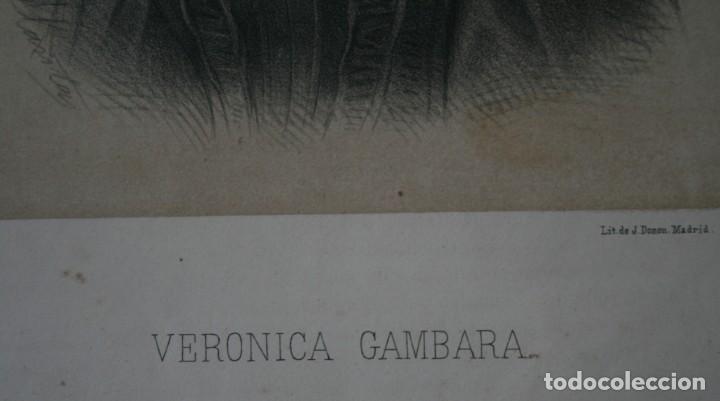 Arte: ANTIGUA LITOGRAFIA J. DONON MADRID: VERONICA GAMBARA – ELIZALDE Y COMPAÑÍA EDITORES, FIRMADA LLANTA - Foto 3 - 195033312