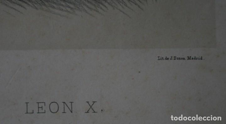 Arte: ANTIGUA LITOGRAFIA J. DONON MADRID: LEON X – ELIZALDE Y COMPAÑÍA EDITORES - FIRMADA LLANTA - Foto 3 - 195033497