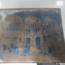 Arte: ANTIGUA Y RARA PLANCHA DE LITOGRAFIA COBRE. Lote 195133331