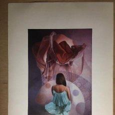 Arte: LITOGRAFÍA DE VIDAL JIMENEZ, FIRMADA. Y SERÁS MAYOR. Nº 8 DE LA SERIE MÁGICA INFANCIA. AÑO 1980.. Lote 195144456