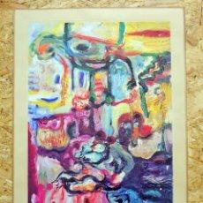 Arte: LITOGRAFÍA DE JOSÉ LUIS ZUMETA FIRMADA Y NUMERADA. Lote 195172302