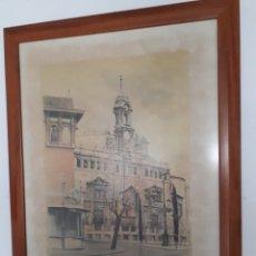 Arte: LAMINA ENMARCADA.VICENTE CORELLA. IGLESIA DE LOS SANTOS JUANES.VALENCIA.AÑOS 80. Lote 195176591
