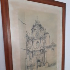 Arte: LAMINA ENMARCADA.VICENTE CORELLA.FACHADA PRINCIPAL CATEDRAL DE VALENCIA. PUERTA DE HIERRO.AÑOS 80. Lote 195176852