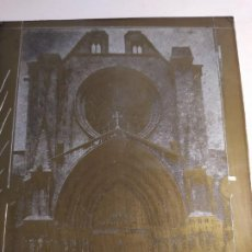 Arte: TARRAGONA, PLANCHA METAL LITOGRÁFICA O SERIGRÁFICA ANTIGUA .. Lote 195252088